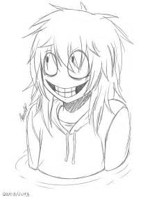 Jeff The Killer Drawing Outline by My Jeff The Killer By G S On Deviantart