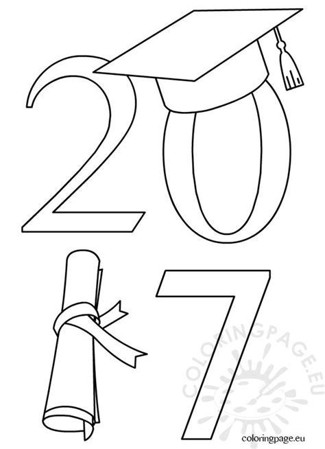 2017 graduate clip art coloring page