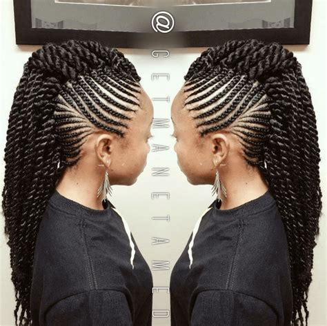 different types of mohawk braids hairstyles scouting for 6 ways to style box braids mohawks