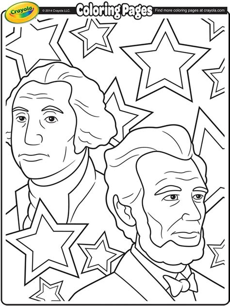 george washington coloring page crayola com george washington and abraham lincoln coloring page