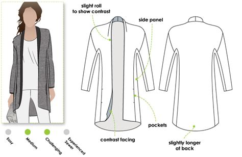 pattern review style arc stylearc lillian knit jacket