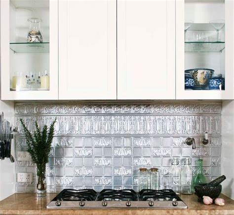 awesome pressed tin metal backsplash amertin ceilings and 50 best images about ściana nad kuchennym blatem on