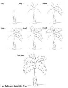 How to draw a palm tree art drawing ideas pinterest