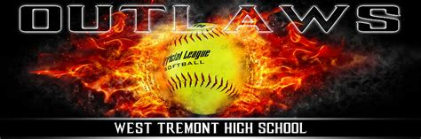 Panoramic Team Banner Softball Sports Photo Template On Fire Sports Banner Templates