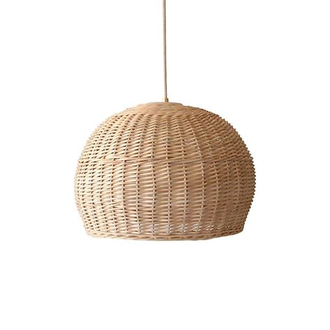 rattan pendant l shade ceiling lights bamboo wicker rattan shade pendant