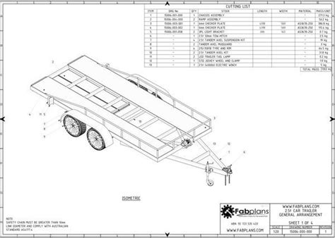 diy floor cer trailer plans 2 5 tonne car trailer fabplans these easy to follow box trailer plans feature 19 pages of