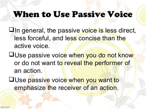pattern of active voice to passive voice active and passive voice