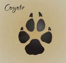 Rustic Cabin stencil 3 quot coyote paw print track wild animal hunt rustic