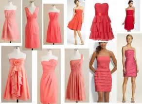 coral color bridesmaid dresses coral bridesmaid dresses what color shoes