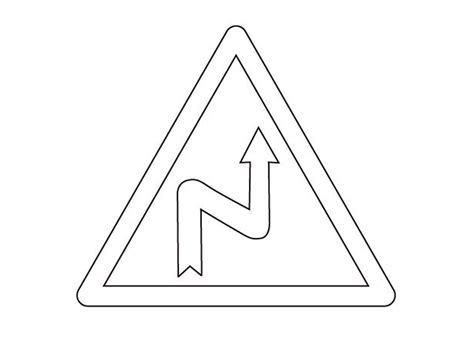 pin road sign coloring page 48jpg on pinterest