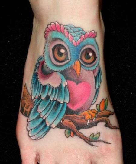 colorful owl tattoos junkies studio tattoos realistic colorful