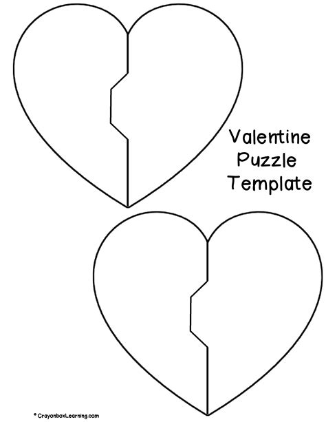 printable heart puzzle template danielle think crafts by createforless