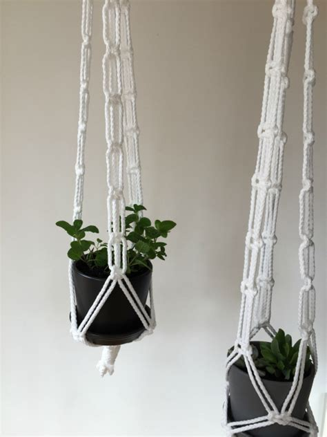 Macrame Pot Hanger - handmade gift ideas macrame pot hangers