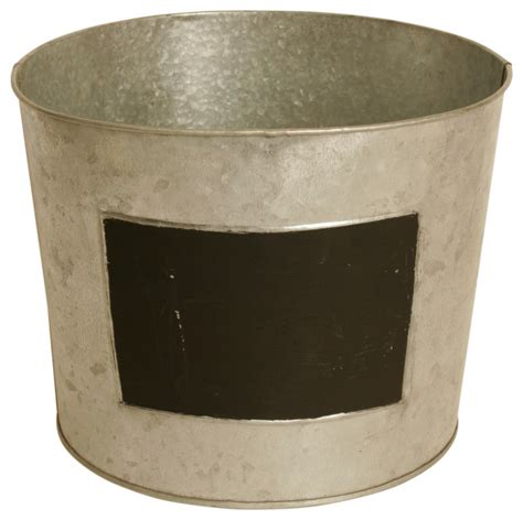 galvanized metal planters galvanized metal planter with chalkboard set of 6 indoor pots and planters by wald