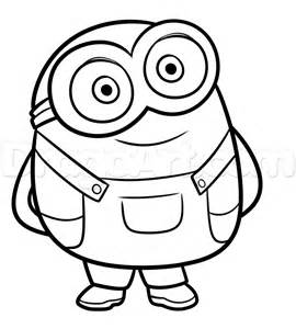 draw bob minions step 7 svg files bobs drawings drawing board