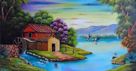 imagenes de paisajes bonitos y faciles im 225 genes arte pinturas cuadros de paisajes f 225 ciles para