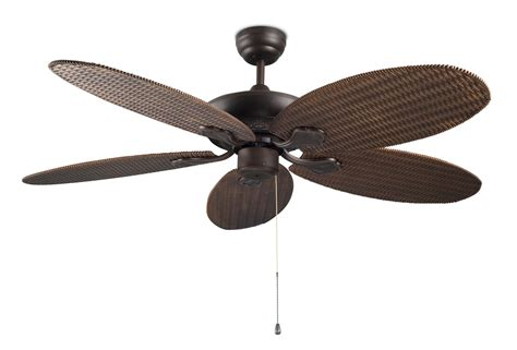 rattan style ceiling fan no light