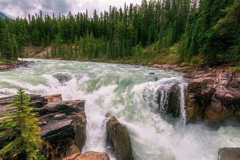sunwapta falls lower sunwapta falls jasper alberta ii photograph by joan