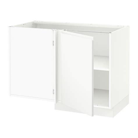 sektion corner base cabinet for sink white voxtorp left sektion corner base cabinet with shelf white voxtorp