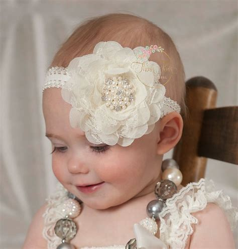 big lace flower headbands for girls baby hair band crochet headband aliexpress com buy kids lace hair bands pearl big flower