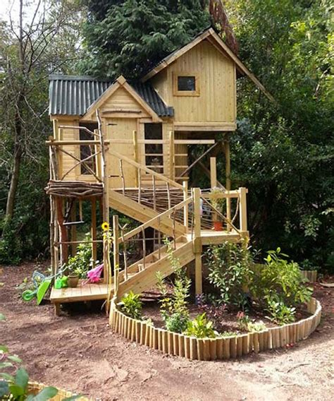 10 fun playgrounds and treehouses for your backyard