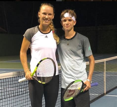 romeo beckham speaking romeo beckham hits with caroline wozniacki
