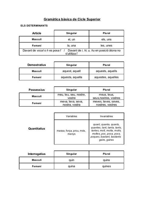 Gramàtica bàsica de cicle superior | Learn another