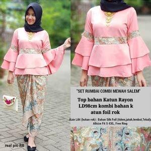 Baju Setelan Wanita Muslim Kutubaru Rosemary Fit To L Bsr setelan baju kebaya cape dan rok batik panjang muslim modern