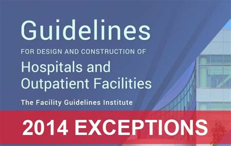 design guidelines for healthcare facilities key exceptions in 2014 fgi guidelines for healthcare