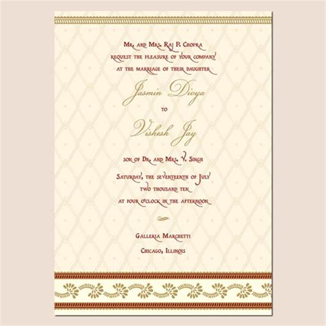 Indian Wedding Card Free Templates by Indian Wedding Invitation Template Shaadi