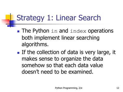 Linear Search Average Ppt Python Programming An Introduction To Computer Science Powerpoint Presentation