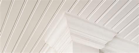Slope Ceiling restoration millwork 174 beadboard panel trim certainteed