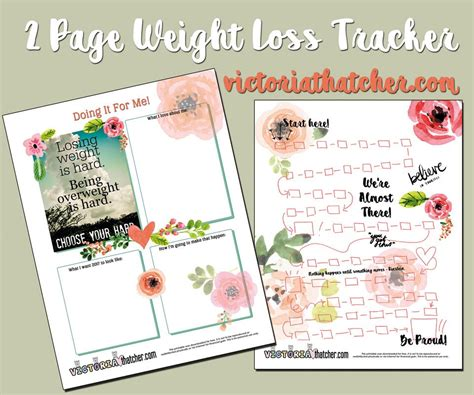 my guide printable weight loss journal