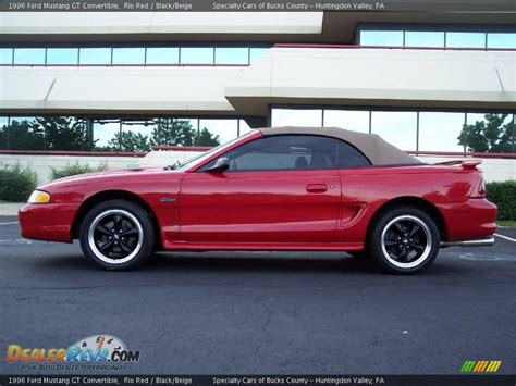 1996 convertible mustang 1996 ford mustang gt convertible black beige