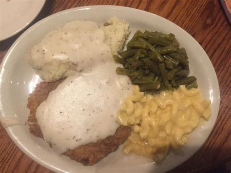 country comfort food comfort food country fried steak mashed potatoes green beans and mac n cheese picture of