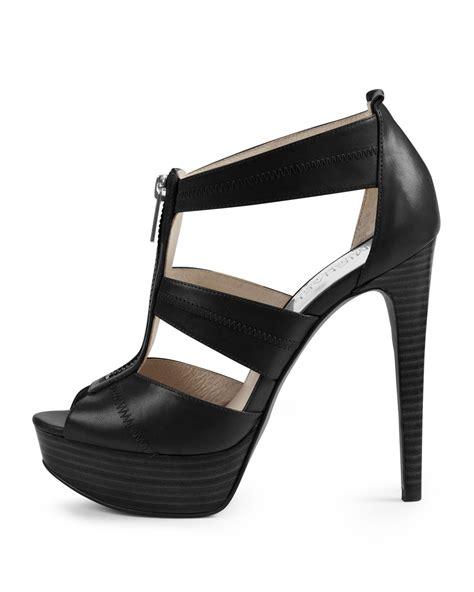 michael kors berkley t sandal michael michael kors berkley t sandal in black lyst