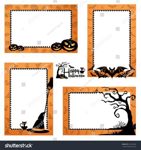 halloween border design halloween frames design stock