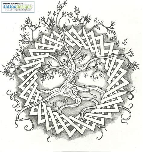 tree mandala coloring pages higher resolution celtic tree of life by vizualassassin