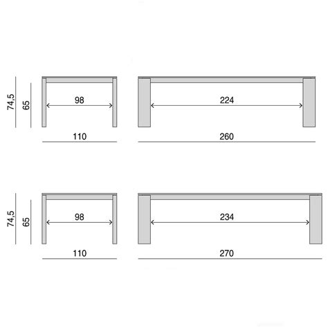 Rectangular Dining Table Dimensions Porada Kevin 110cm Rectangular Dining Table 7 Sizes