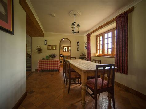 bungalow dining room pond cottage rental chateau de monfreville normandy