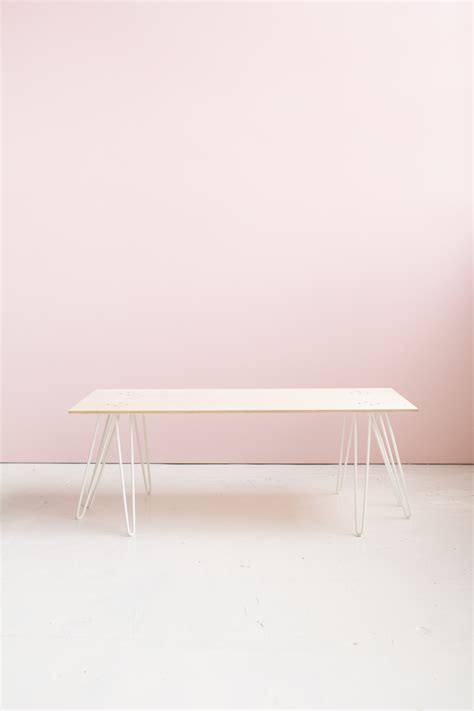 diy pink washed plywood coffee table fall for diy