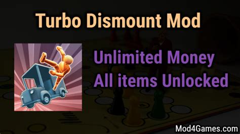 mod game unlimited money turbo dismount mod unlimited money all items unlocked