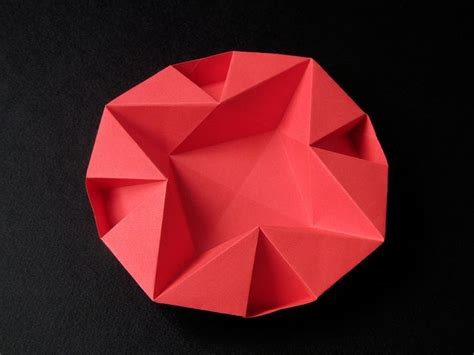 Origami With Copy Paper - piatto per natale dish for origami
