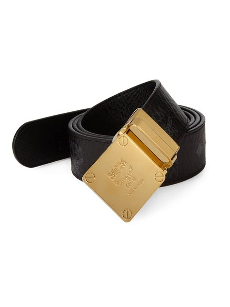 Mcm Viestos Round Reversible Belt in Black for Men   Lyst