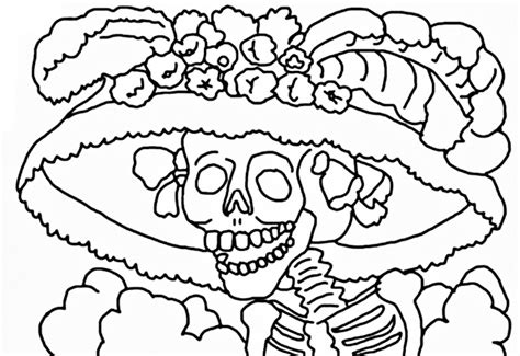 La Catrina Coloring Pages Free | la catrina para colorear pintar e imprimir