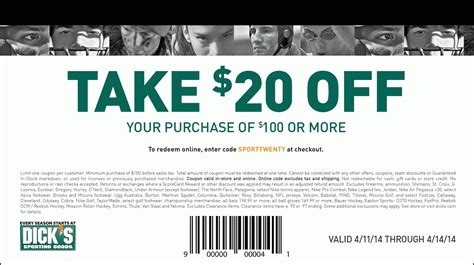 Dicks Sporting Goods Coupons Printable Coupon And Deals
