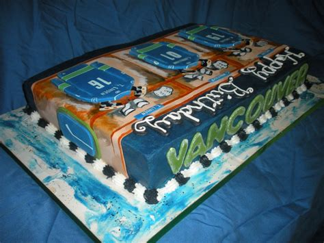 themed birthday cakes vancouver vancouver canucks theme cake large homemade specialty