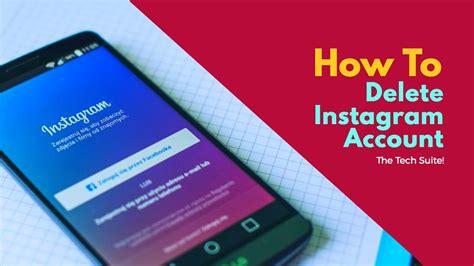 tutorial delete instagram how to delete instagram account youtube