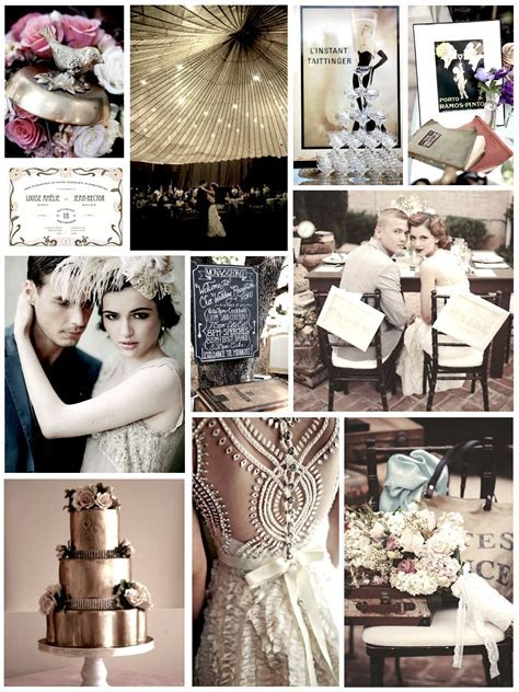 1920's wedding inspiration collage. Love all these ideas