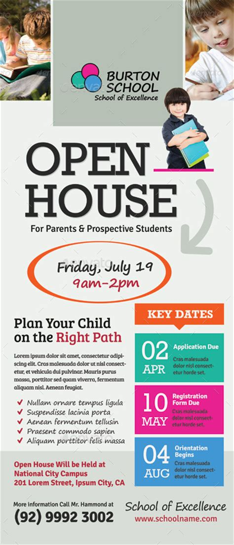 school open house roll up banner templates by kinzi21
